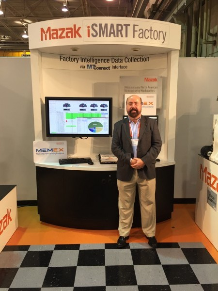 MEMEX VP Sales and Marketing, John Rattray, at the Mazak iSMART Factory booth