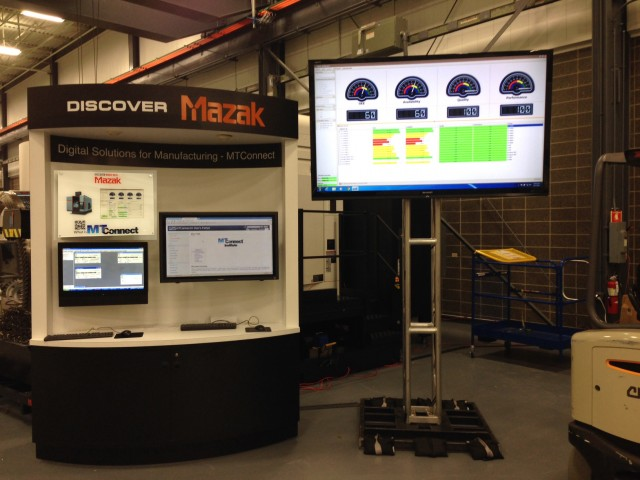 Mazak Booth Screen Tech Center
